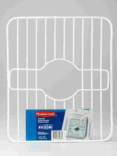 Merveilleux Rubbermaid 6103ARWHT Twin Sink Rack Protector