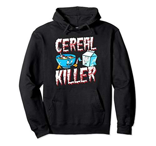 Funny Halloween Costume Hoodie Cereal Killer ()