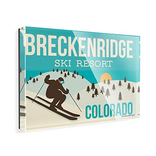 Acrylic Fridge Magnet Breckenridge Ski Resort - Colorado Ski Resort NEONBLOND