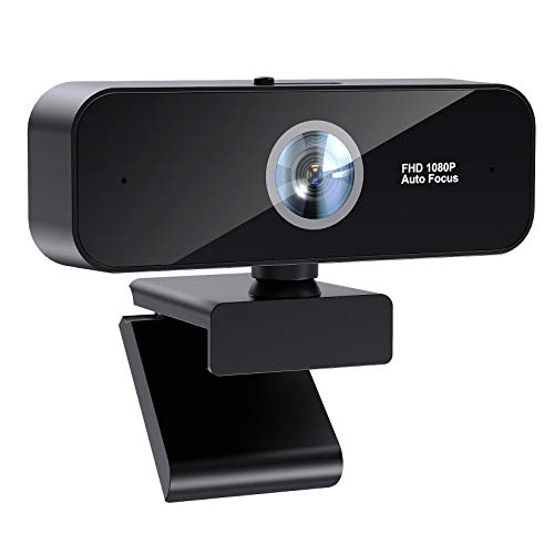 Webcam with Microphone for Desktop/Laptop 1080P HD AutoFocus Webcam with Auto Light Correction, Streaming Computer USB Web Camera for Video Calling and Recording, Teaching, Streaming, and Gaming