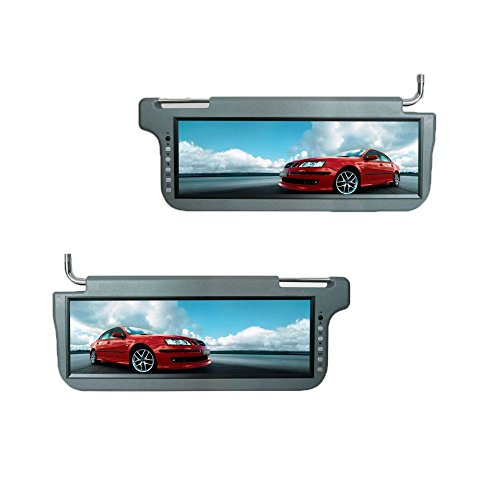 Audiocon 12.2   TFT LCD Sun Visor Monitor Video Driver Passenger Sided Gray  by Audiocon e83c1a01c82