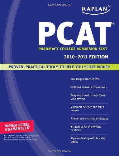 Kaplan PCAT 2010-2011 Edition