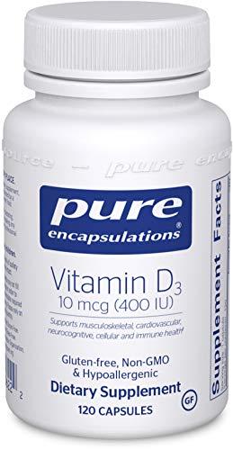 - Pure Encapsulations - Vitamin D3 400 IU - Hypoallergenic Support for Bone, Breast, Prostate, Cardiovascular, Colon and Immune Health* - 120 Capsules