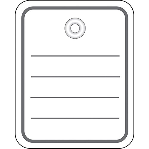 Herma 6820 Stückwarenanhänger (mit Öse, 40 x 50 mm) 1.000 Stück, weiß 40 x 50 mm) 1.000 Stück weiß