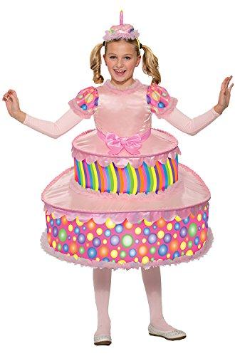 Forum Novelties Kids Birthday Cake Costume, Pink, Medium -