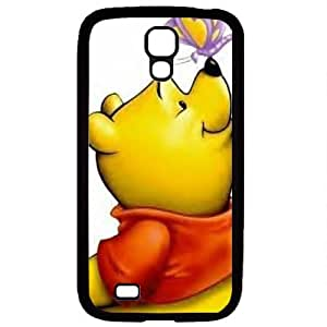 S4 case ,Samsung Galaxy S4 case ,fashion durable Black side design for Samsung Galaxy S4,Rubber material phone cover ,Designed Specially Pattern with Pooh and Butterfly . by mcsharks