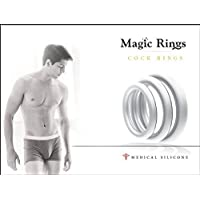 Penis Ring Set for Men - Adult Toys for Couples - Sex Enhancer Ring - Silicone Cock Rings for Longer Orgasm by Magic Rings - Clear