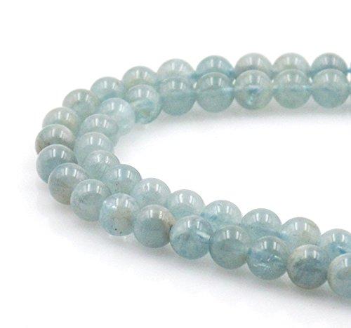 BRCbeads Natural Aquamarine Gemstone Approxi