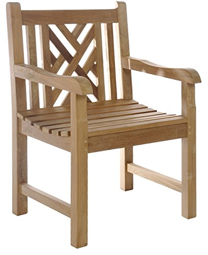 Swell Teak Wood Chippendale Outdoor Patio Arm Chair Made From Solid A Grade Teak Wood Inzonedesignstudio Interior Chair Design Inzonedesignstudiocom