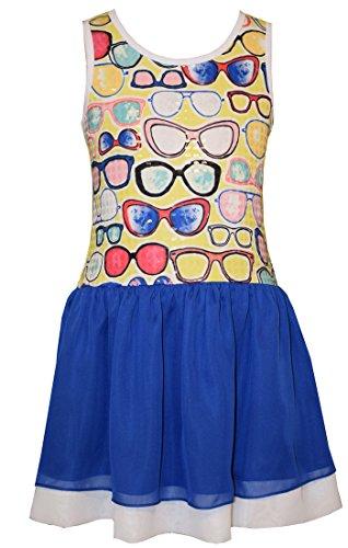 Bonnie Jean Little Girls' Sleevless Graphic Knit Dress, Sunglasses, - Monday Cyber Deals Sunglasses