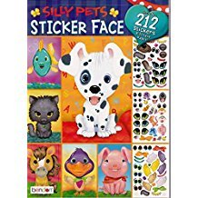 Silly Pets Face Repositional Stickers Fun Activity Book ()