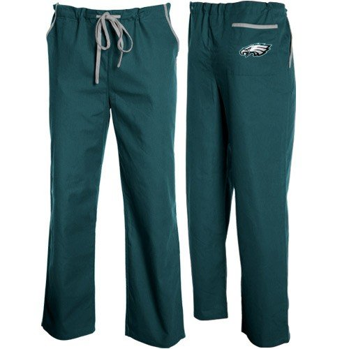NFL Philadelphia Eagles Green Basic Unisex Solid Scrub Pants (Large) by Football Fanatics