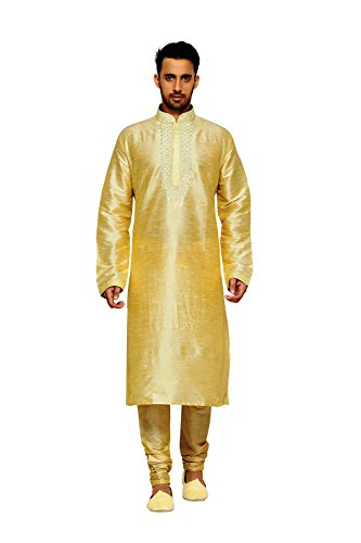 Indian Traditional Designer Partywear Ethnic Fawn Mens Kurta Pajama by itsindiancrafty