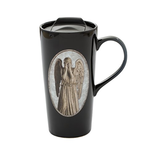 Vandor Doctor Who Weeping Angel Heat Reactive Ceramic Travel Mug (54812) Angel Ceramic Travel Mug