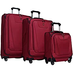 "Travelpro Maxlite 4 3-Piece Luggage Set: 29"", 25"" Expandable Spinners and Under Seat Bag Carry On (Merlot)"