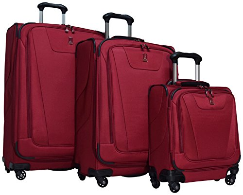 Travelpro Maxlite 4 3-Piece Luggage Set: 29'', 25'' Expandable Spinners and Under Seat Bag Carry On (Merlot) by Travelpro