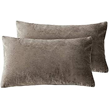 Amazon Com Phf Throw Pillow Cover Yarn Dyed Stone Washed