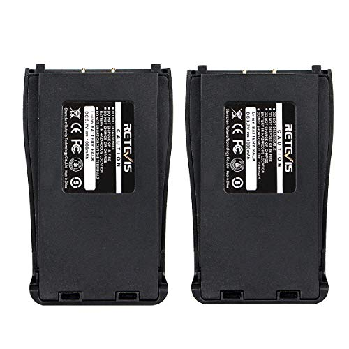 Retevis Two Way Radio Battery 1000mAh Replacement Battery Compatible with Baofeng BF-888S 777S 666S Retevis H-777 2 Way Radio(2 Pack)