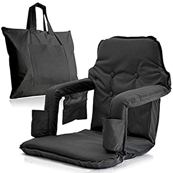 Terrific Foldable Stadium Seat For Bleachers New Improved 2019 Deluxe Model Free Carry Storage Bag Water Resistant Thick Padding 2 Drink Holders Ibusinesslaw Wood Chair Design Ideas Ibusinesslaworg