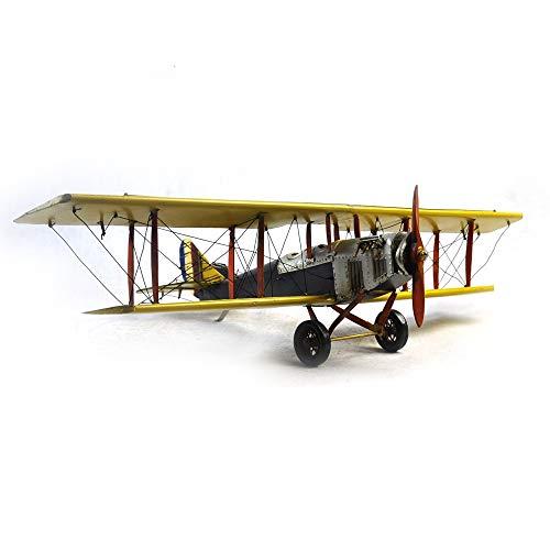 VJUKUBWINE Antique World War I Yellow Curtis Jane Plane - Fine Edition Model Tinplate Hand Made Retro Iron Art Home Car Decoration Decoration Arrangement Photography Props 6846.516cm by VJUKUBWINE (Image #4)