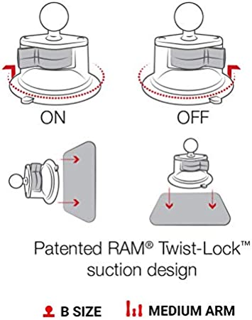 Ram X Grip Große Handyhalterung Mit Ram Twist Lock Saugnapf Basis Auto
