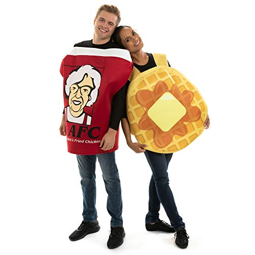 Good Halloween Costumes For Last Minute (Chicken & Waffles Couples Costume - Breakfast Food Outfit for Halloween)