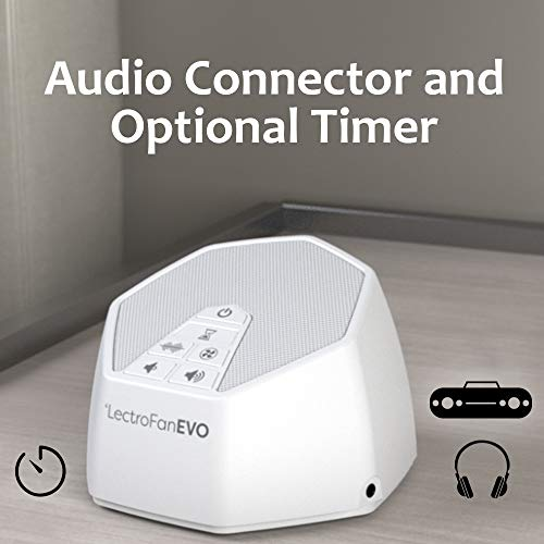 Adaptive Evo White Sound Machine with Non-Looping Fan Timer