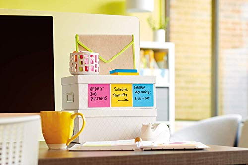 Post-it Super Sticky Notes, Orange, Green, Blue, Pink, Yellow, 2X The Sticking Power, Great for Windows, Doors and Walls, Value Pack, 3 in. x 3 in, 24 Pads/Pack, 70 Sheets/Pad (654-24SSAU-CP), 2 Pack by Post-it (Image #2)