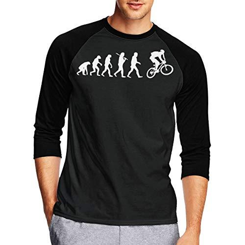 Evolution Mountain Bike Men's 3/4 Sleeve Raglan T-Shirt Tops