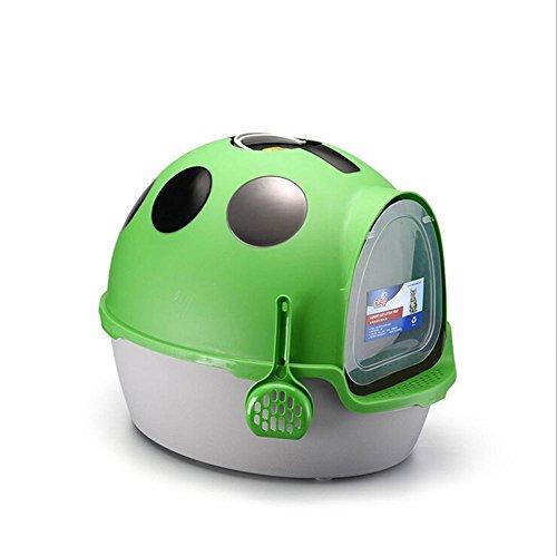 Inodoro para Gato Cat Litter Box Viaje Luz Peso Litter Cajas Bandeja Sanitaria Shuttle con Marco Exterior CóModo y Transpirable MS-006, Green: Amazon.es: ...