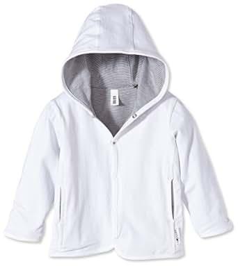 Noppies - Abrigo con capucha de manga larga para bebé, talla 6 meses (68), color blanco