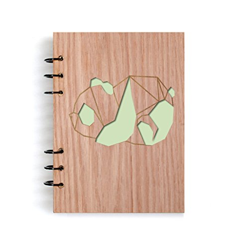 art panda Handmade Art Wood Notebook Refillable Diary Sketchbook Daily Notepad Notebook Cover Wood Journal Gifts