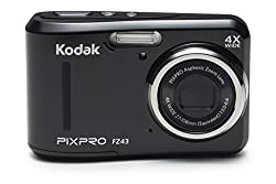 "Kodak Pixpro Friendly Zoom Fz43 16 Mp Digital Camera With 4x Optical Zoom & 2.7"" Lcd Screen (Black)"
