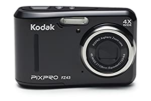 Kodak PIXPRO Friendly Zoom FZ43-BK 16MP Digital Camera with 4X Optical Zoom and 2.7