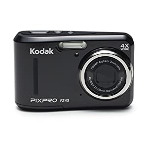 "41hgf1Z%2BZPL. SS300  - Kodak PIXPRO Friendly Zoom FZ43-BK 16MP Digital Camera with 4X Optical Zoom and 2.7"" LCD Screen (Black)"