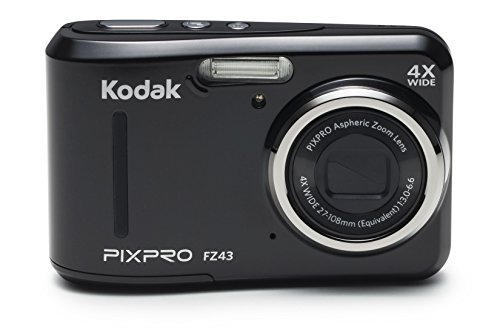 Kodak PIXPRO Friendly Zoom FZ43-BK 16MP Digital Camera with 4X Optical Zoom and 2.7' LCD Screen (Black)