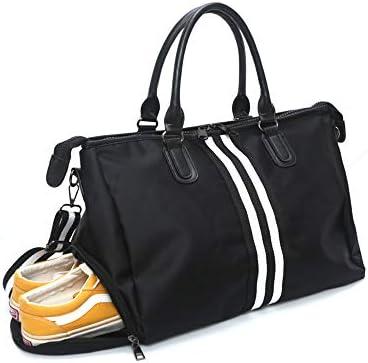 6ebac5180 Bolsa de Viaje, Bolsa Fin de Semana Impermeable Bolso Deportivo con  Compartimento para Zapatos para Mujer y Hombre