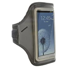 Aduro U-BAND Reflective Armband for Samsung Galaxy S3 / S4, Motorola Droid RAZR MAXX HD, LG SPECTRUM 2, HTC ONE X, Galaxy Nexus 4, (Black)