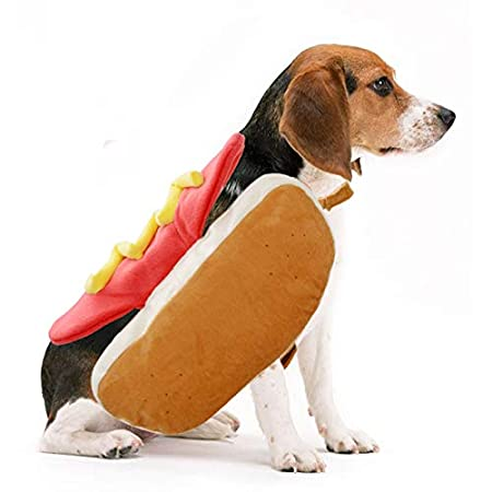 Yuchoi Pet Costume Hot Dog Dog Costume Dress Up Clothes Puppy Warm