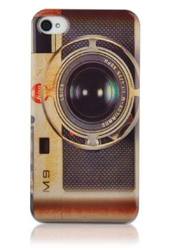 iPhone 4 Case - Retro Camera Back Cover for iPhone 4 4s, Screen Protector Included (Retro Camera Iphone 4 Case)
