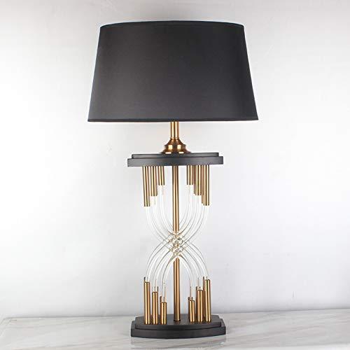 Lámpara de mesa de cristal posmoderna lámpara de mesita de noche ...
