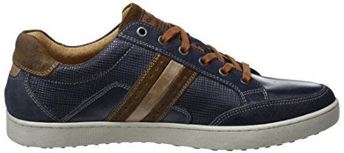 Australian Herren lombardo Leather Sneaker Mehrfarbig (Blue-Tan-Grey)