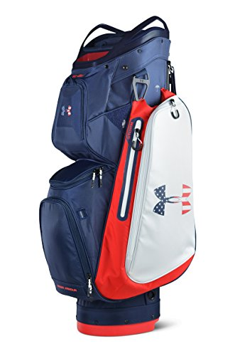 Under Armour Storm Armada Cart Golf Bag (Academy/White/Red) from Under Armour