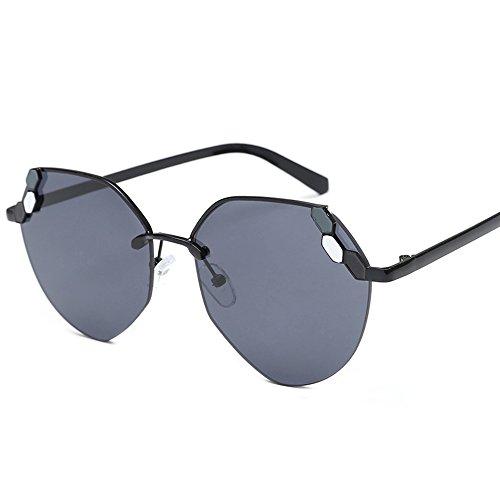 Driving Negro de Color Sol Hombres Blanco polarizadas LVZAIXI Sol Gafas Aviator Gafas Women con de para Vintage wHaq886x45