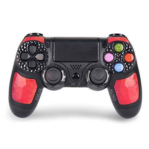 (PS4 Controller - Dual Shock 4 Wireless Controller for Playstation 4 - Joystick with Sixaxis, Bluetooth, Super Power, Micro USB, Multi-Touch Clickable Touch Pad (RED))