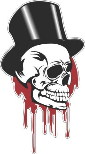 ShopForAllYou Stickers & Decals Top Hat Bleeding Skull Tool Box Bumper Sticker Vinyl -