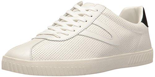 Tretorn Men's CAMDEN2 Sneaker, White/Black Perforated, 8.5 Medium US