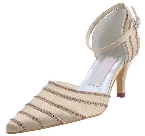 Kevin Fashion , Chaussures de mariage tendance femme - marron - champagne, 43
