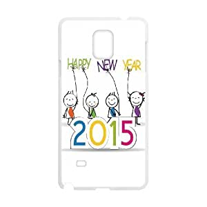 Happy New Year 2015 Wholesale DIY Cell Phone Case Cover for Samsung Galaxy Note 4, Happy New Year 2015 Galaxy Note 4 Phone Case