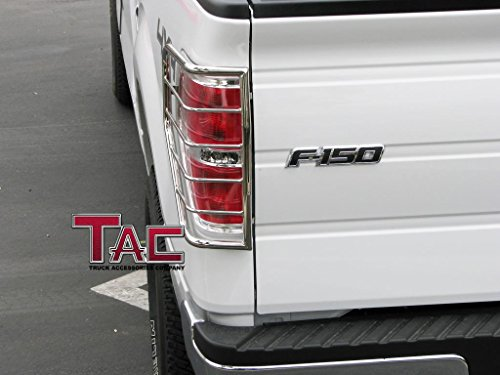 TAC 09-14 FORD F150 TAILLIGHT GUARD Polished Stainless Steel Taillight Covers Tail Light Guards